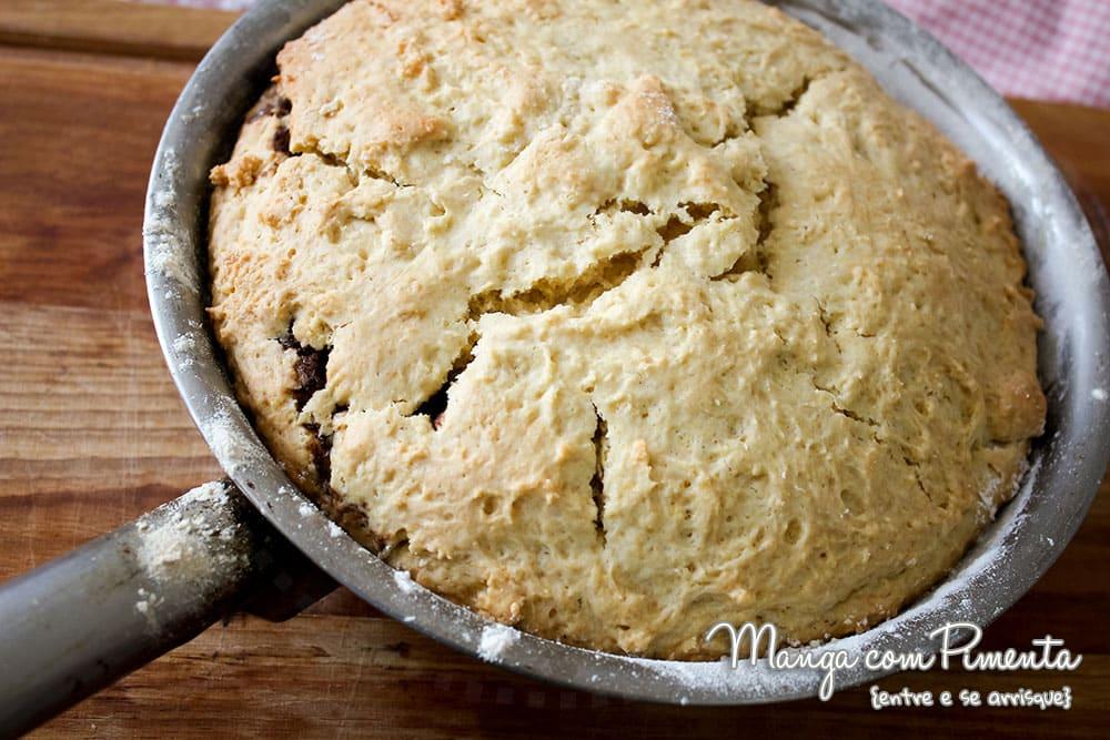 Cookie de Frigideira com Creme de Avelã e Chocolate